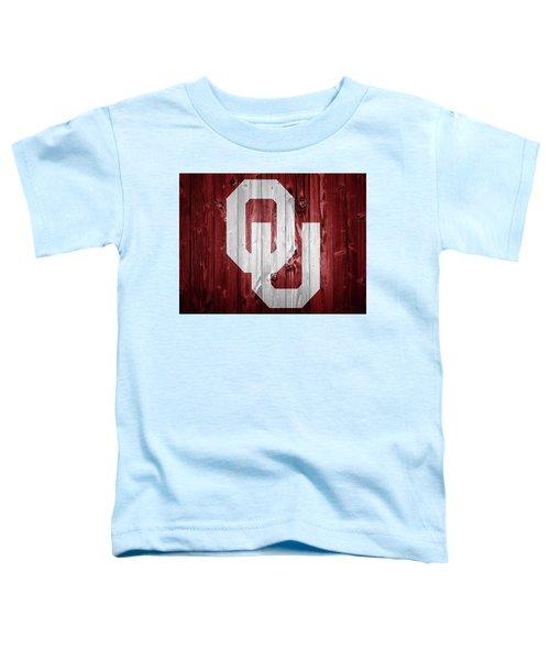 Sooners Barn Door Toddler T-Shirt by Dan Sproul