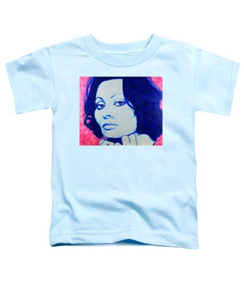 Sophia Loren Pop Art Portrait Toddler T-Shirt