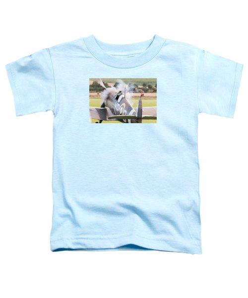 Spitfire Engine Start Smoke Rings Toddler T-Shirt by Gary Eason