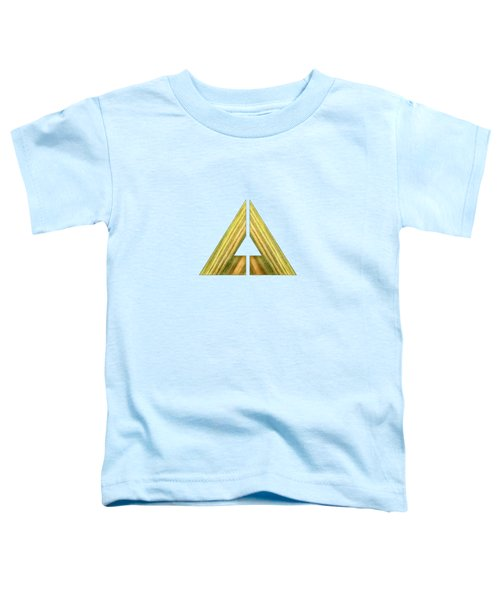 Split Triangle Green Toddler T-Shirt