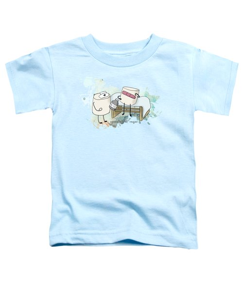 Spoonful Of Sugar Words Illustrated  Toddler T-Shirt by Heather Applegate