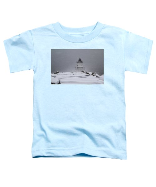 Spring Point Ledge Lighthouse Blizzard Toddler T-Shirt