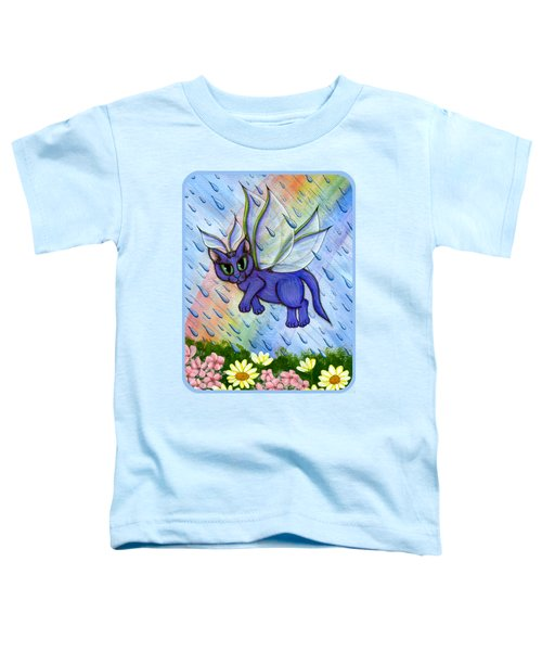 Spring Showers Fairy Cat Toddler T-Shirt