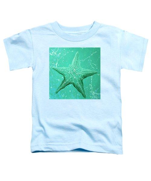 Starfish In Teal Toddler T-Shirt