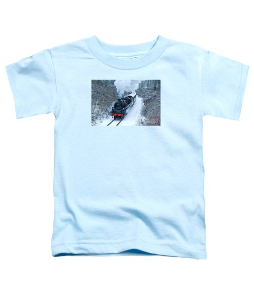 Steam Locomotive 73129 In Snow Toddler T-Shirt