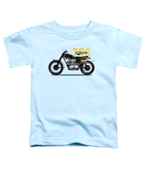 Steve Mcqueen Desert Racer Toddler T-Shirt by Mark Rogan