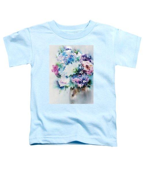 Still Life Rose Bouquet Watercolour Toddler T-Shirt