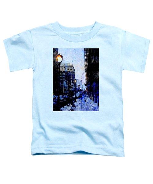 Street Lamps Sidewalk Abstract Toddler T-Shirt