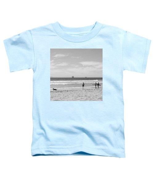 Strollin On Dog Beach Toddler T-Shirt