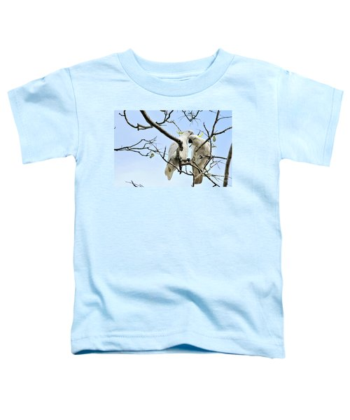 Sulphur Crested Cockatoos Toddler T-Shirt by Kaye Menner