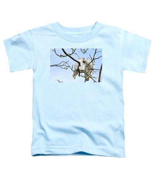 Sulphur Crested Cockatoos Toddler T-Shirt by Kaye Menner