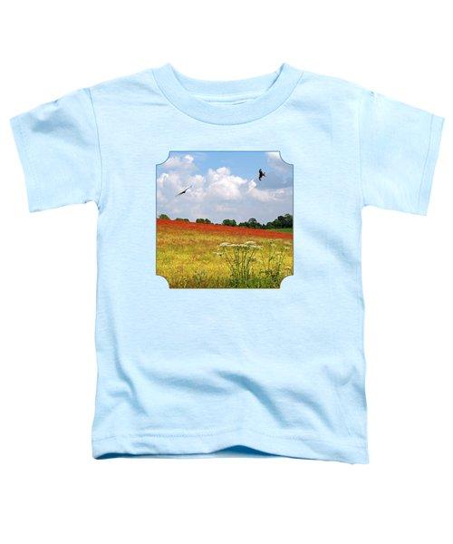 Summer Spectacular - Red Kites Over Poppy Fields Toddler T-Shirt