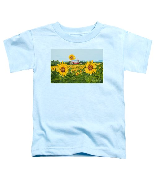 Sunflowers On Route 45 - Pennsylvania- Autumn Glow Toddler T-Shirt