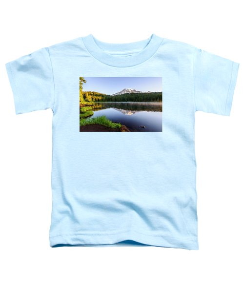 Mount Rainier Viewed From Reflection Lake Toddler T-Shirt