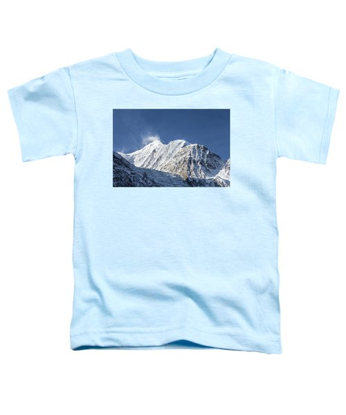 Sunrise Over The Gangapurna Peak At 7545m In The Himalayas In Ne Toddler T-Shirt