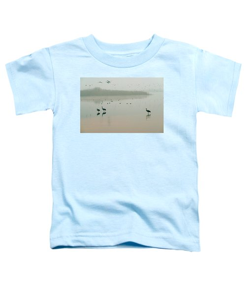 Toddler T-Shirt featuring the photograph Sunrise Over The Hula Valley Israel 2 by Dubi Roman
