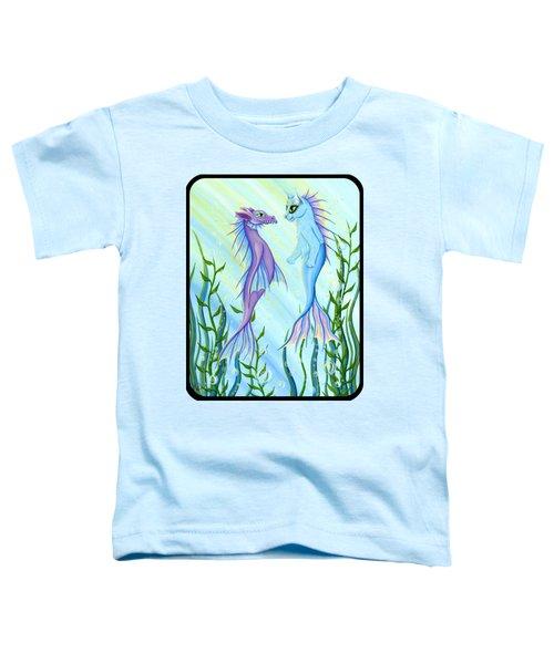 Sunrise Swim - Sea Dragon Mermaid Cat Toddler T-Shirt