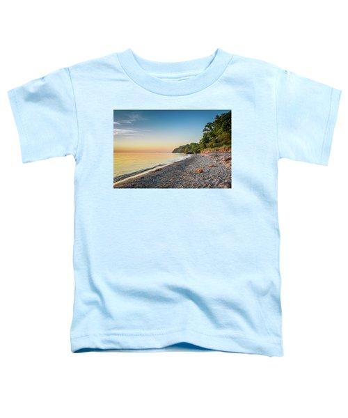 Sunset Glow Over Lake Toddler T-Shirt