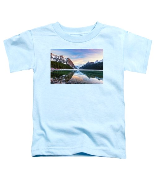 Sunset Lake Louise Toddler T-Shirt