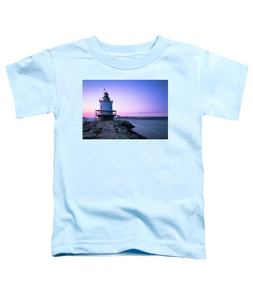 Sunset Over Spring Breakwater Lighthouse In South Maine Toddler T-Shirt