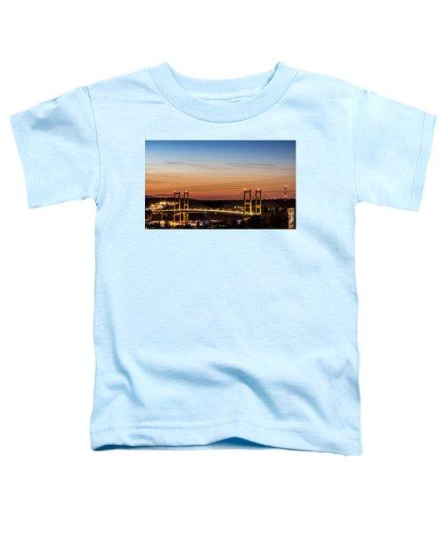 Sunset Over The Tacoma Narrows Bridges Toddler T-Shirt