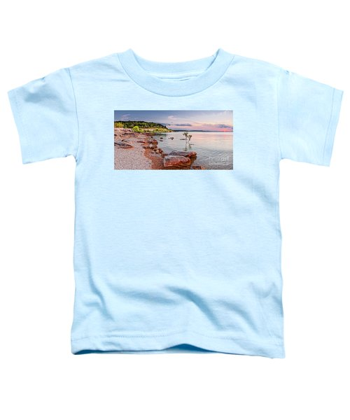 Sunset Panorama Of Canyon Lake East Shore New Braunfels Guadalupe River Texas Hill Country Toddler T-Shirt