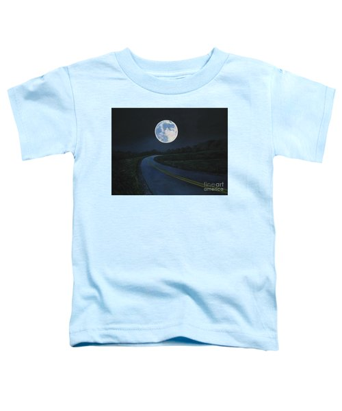 Super Moon At The End Of The Road Toddler T-Shirt