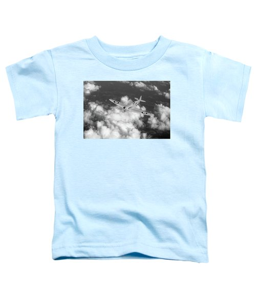 Toddler T-Shirt featuring the photograph Supermarine Spitfire Prototype K5054 Black And White Version by Gary Eason