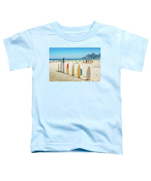 Surfboards On Ipanema Beach, Rio De Janeiro Toddler T-Shirt