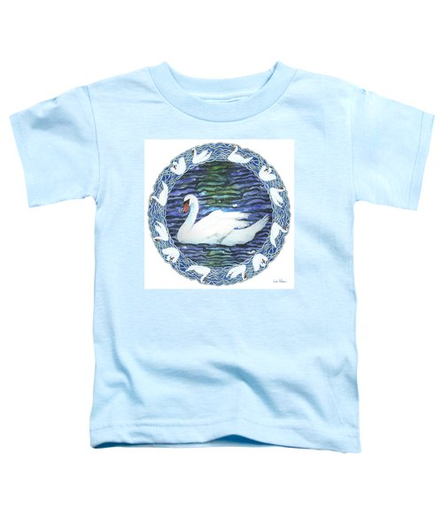 Swan With Knotted Border Toddler T-Shirt