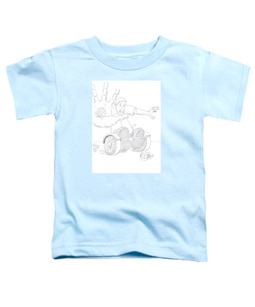 Swegway Hoverboard Emergency Stop Cartoon Toddler T-Shirt