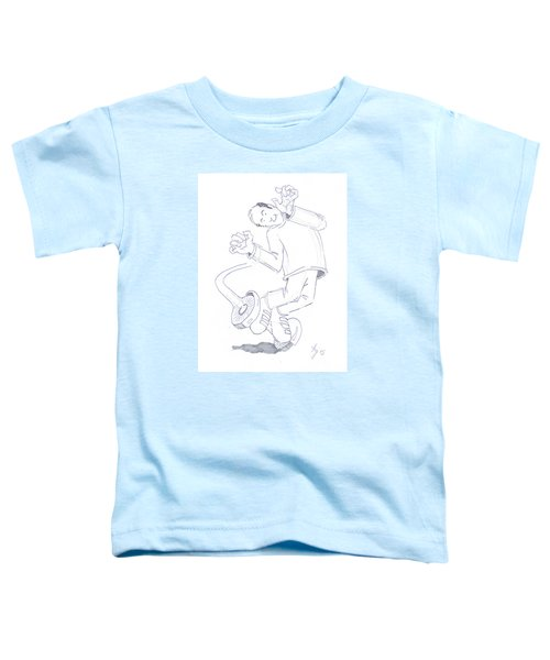 Swegway Hoverboard Geezer Cartoon Toddler T-Shirt