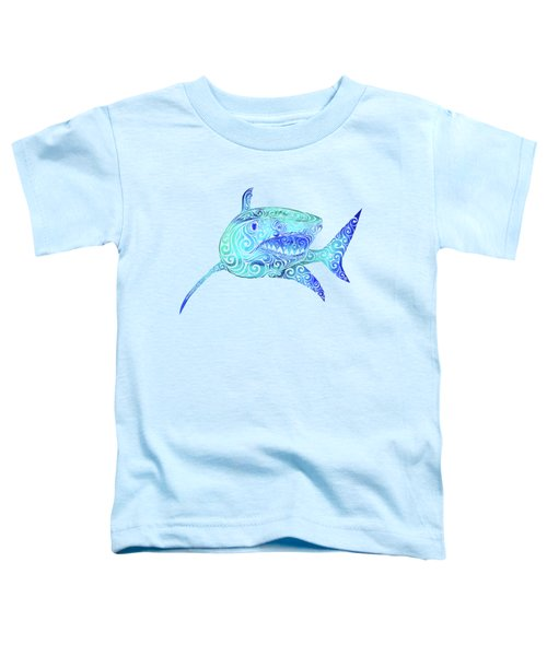 Swirly Shark Toddler T-Shirt by Carolina Matthes