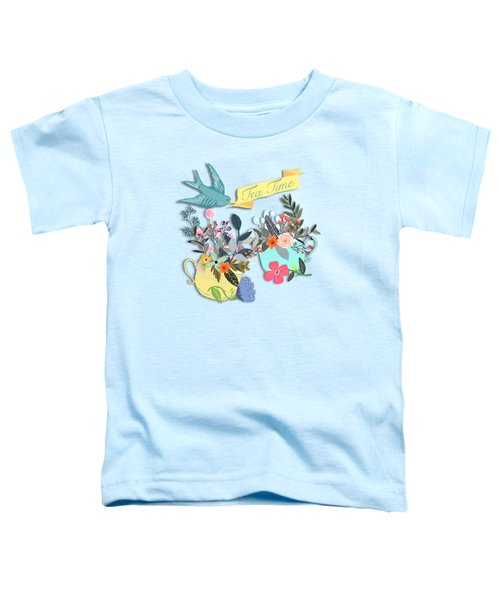 Tea For Two Toddler T-Shirt by Little Bunny Sunshine