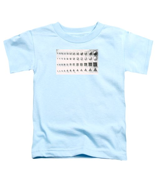 Toddler T-Shirt featuring the drawing Template by James Lanigan Thompson MFA