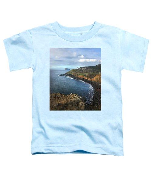 Terceira Island Coast With Ilheus De Cabras And Ponta Das Contendas Lighthouse  Toddler T-Shirt