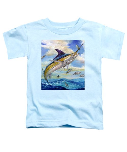 The Blue Marlin Leaping To Eat Toddler T-Shirt
