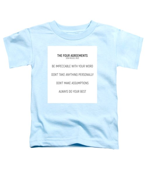 The Four Agreements #minismalism #shortversion Toddler T-Shirt