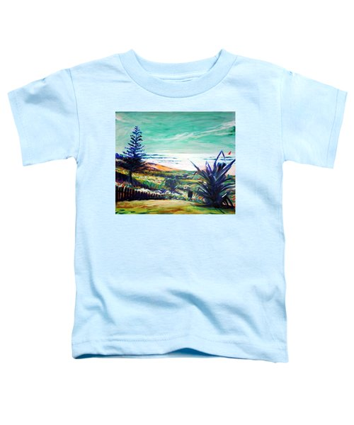 Toddler T-Shirt featuring the painting The Lawn Pandanus by Winsome Gunning