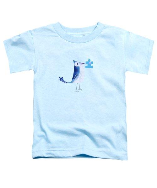 The Letter Blue J Toddler T-Shirt by Valerie Drake Lesiak