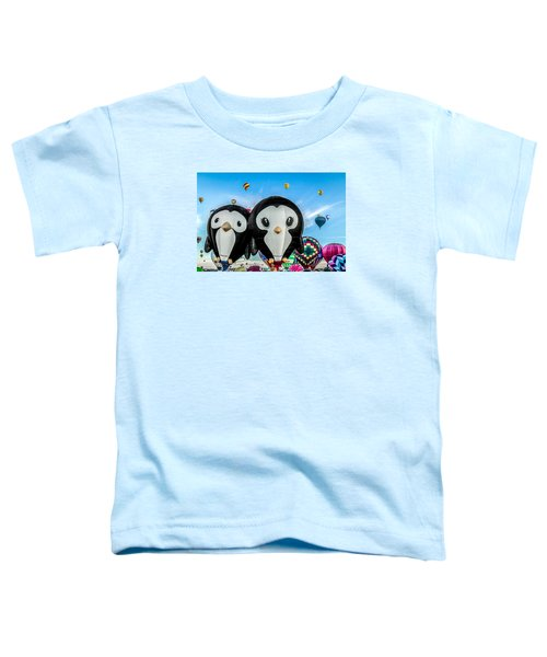 Puddles And Splash - The Penguin Hot Air Balloons Toddler T-Shirt