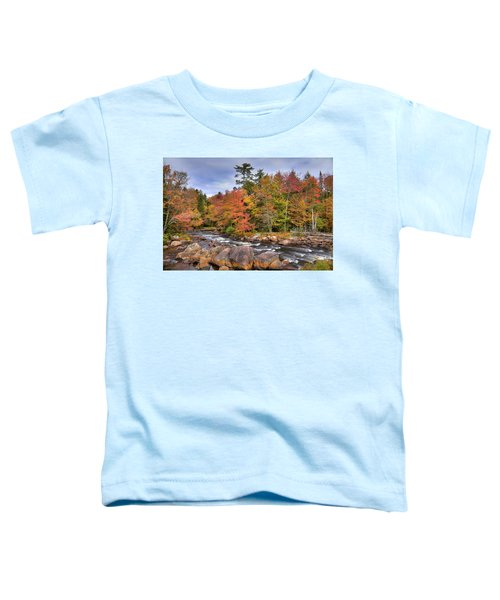 Toddler T-Shirt featuring the photograph The Rapids On The Moose River by David Patterson