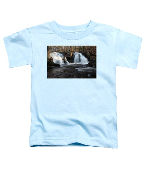 The Secret Waterfall In Golden Light Toddler T-Shirt