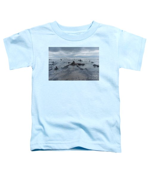 The Tide Comes In Over The Bronze Age Sunken Forest At Borth On The West Wales Coast Uk Toddler T-Shirt