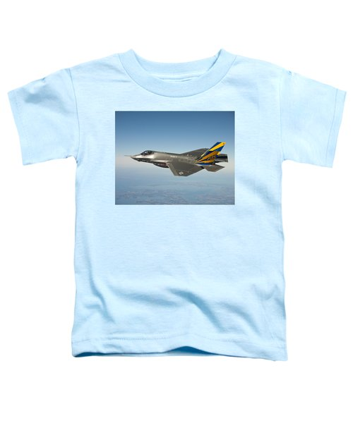The U.s. Navy Variant Of The F-35 Joint Strike Fighter, The F-35c Toddler T-Shirt