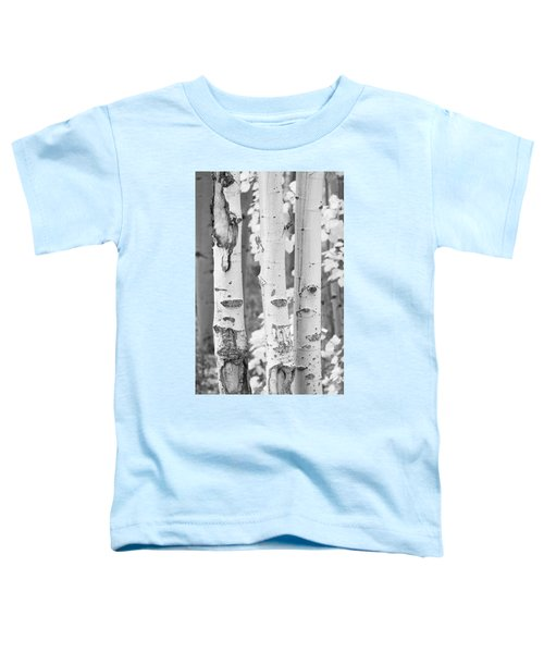 Three Aspens In Black And White  Toddler T-Shirt