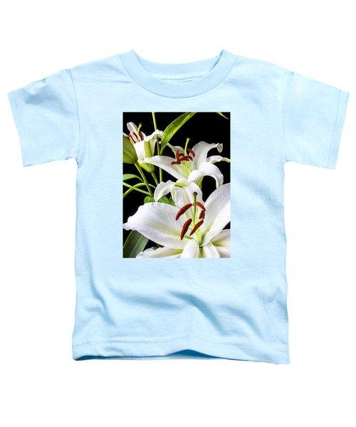 Three White Lilies Toddler T-Shirt