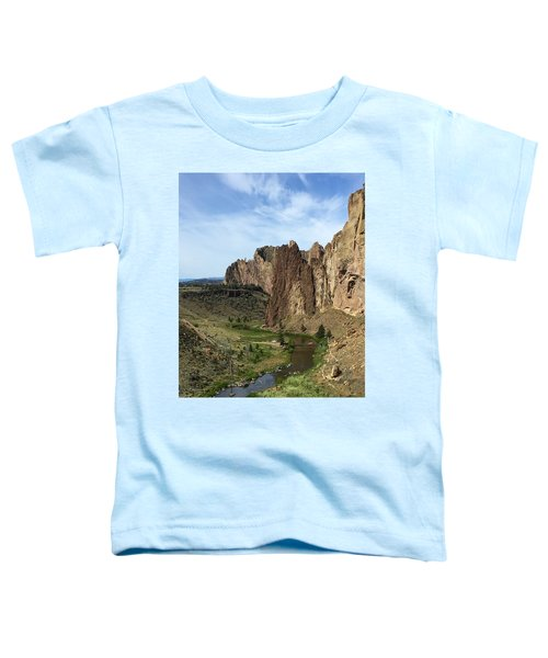Towering Smith Rocks Toddler T-Shirt