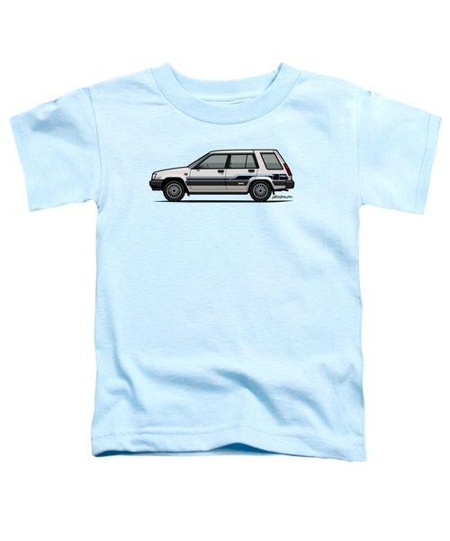 Toyota Tercel Sr5 4wd Wagon Al25 White Toddler T-Shirt