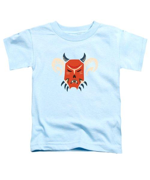 Traditional Bulgarian Evil Monster Kuker Mask Toddler T-Shirt